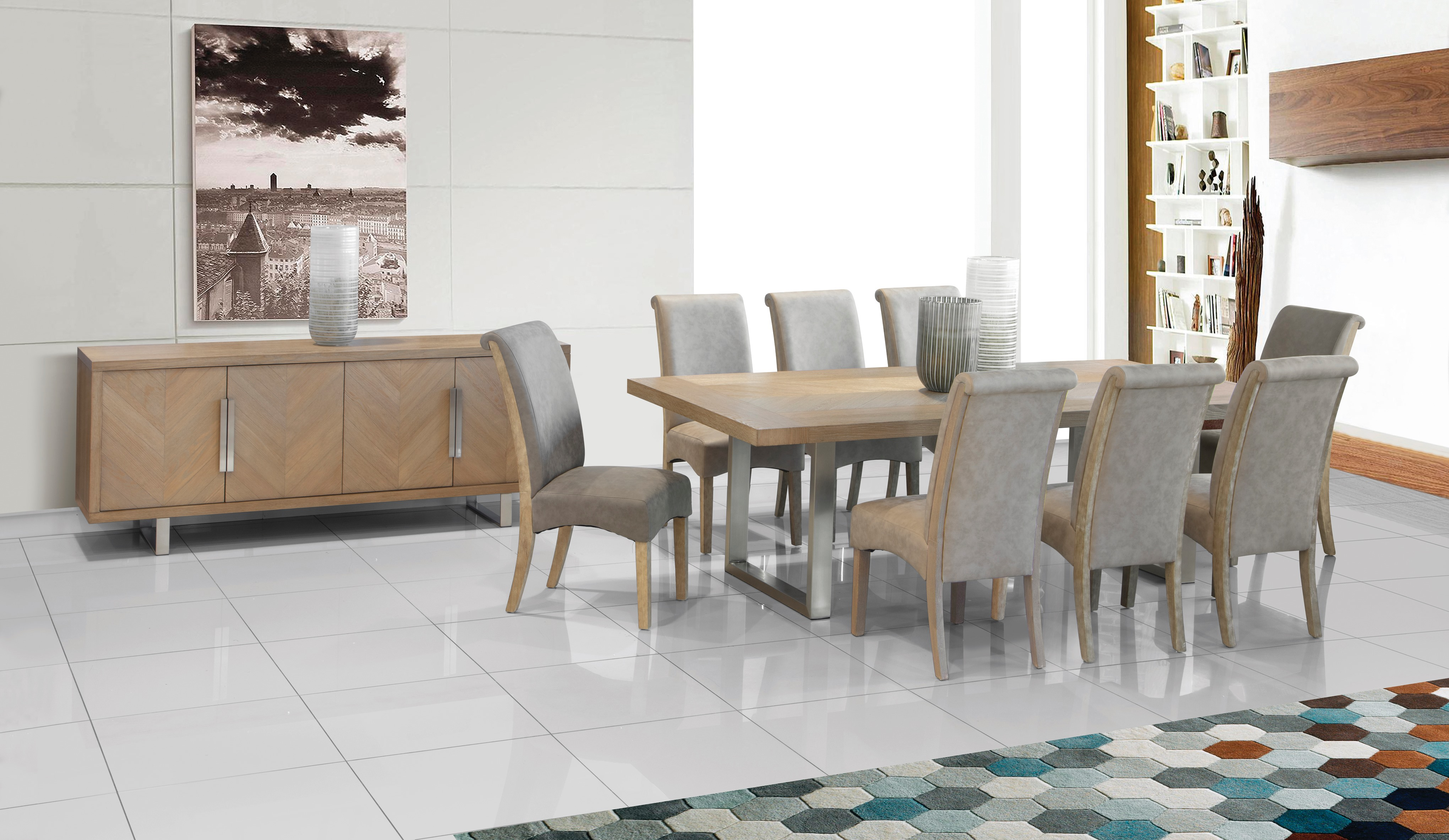 Valencia Dining Room Suite   Sedgars Home   Stunning Contemporary ...